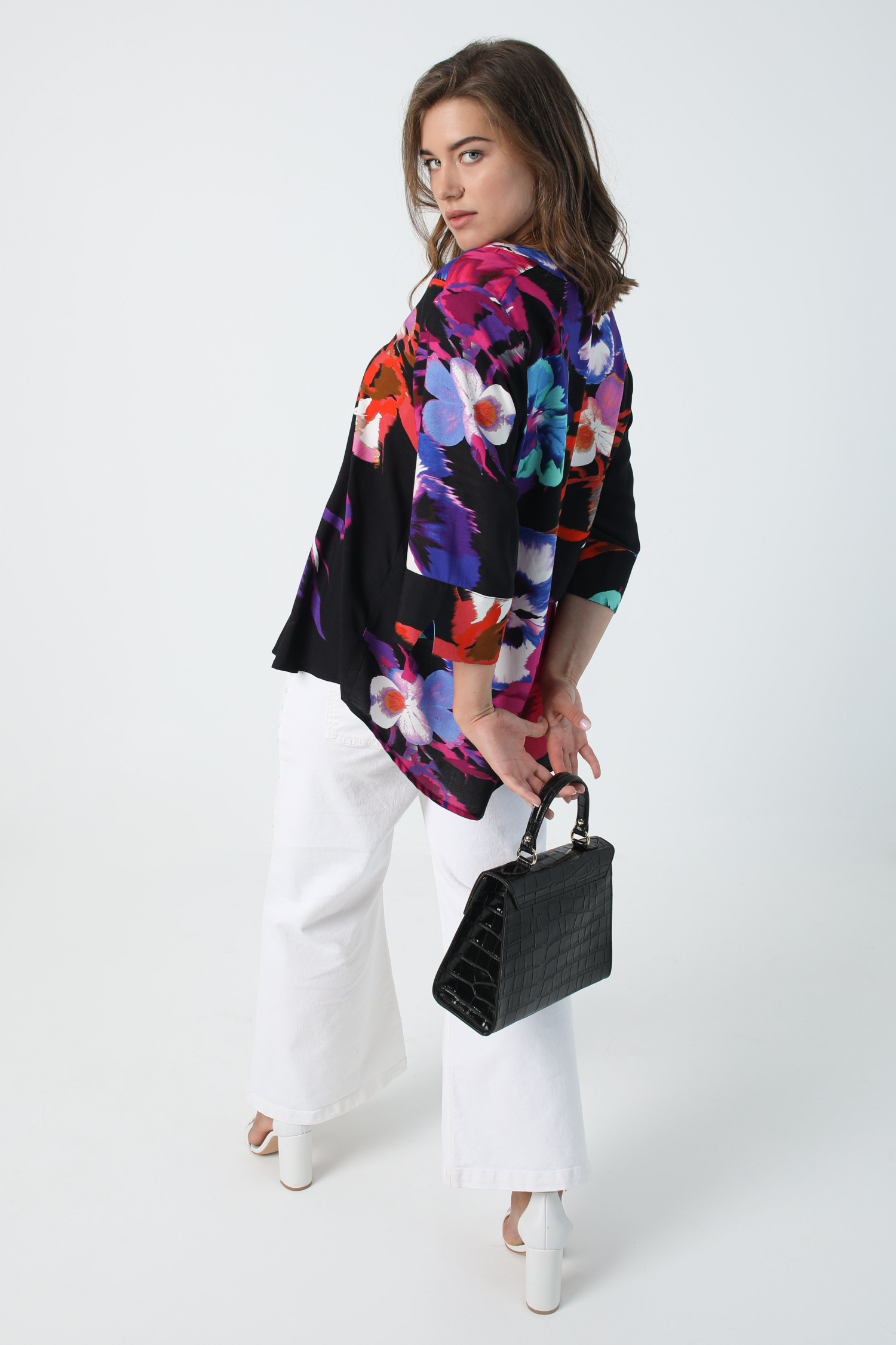 blouse with a design placed oeko-tex fabric