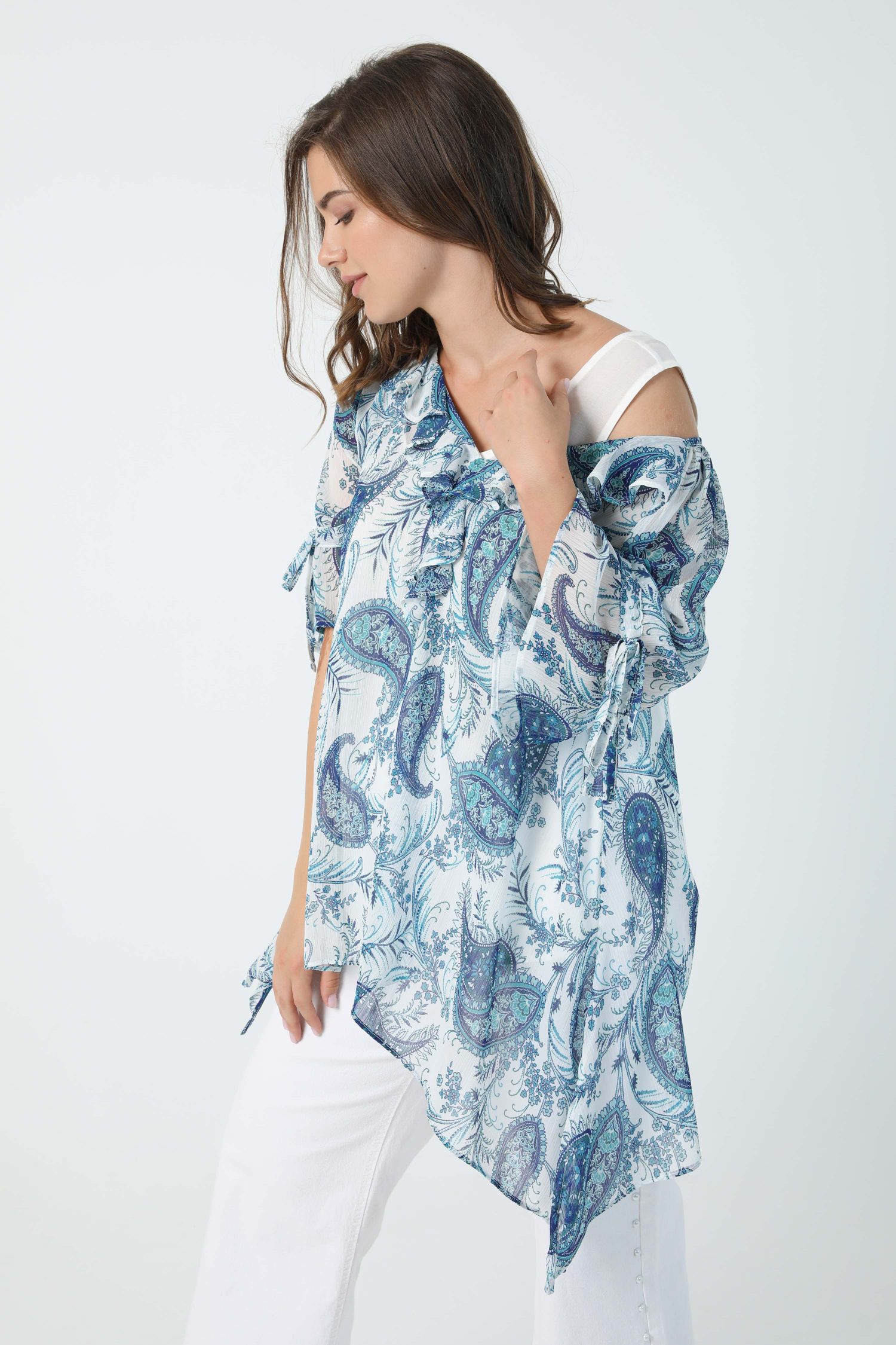 Printed blouse in eoko-tex fabric (Shipping July 20/25)