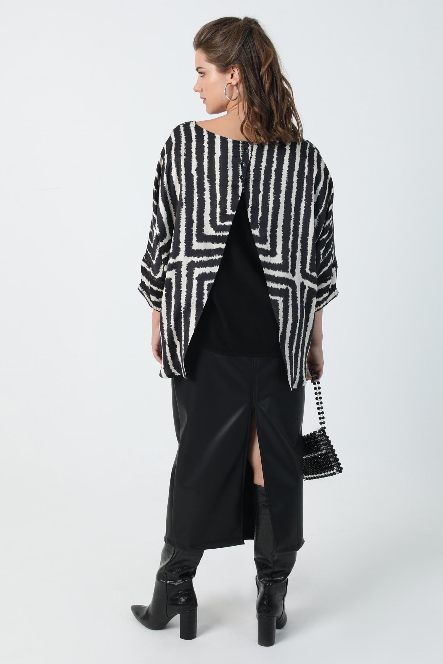 Long vegan leather skirt