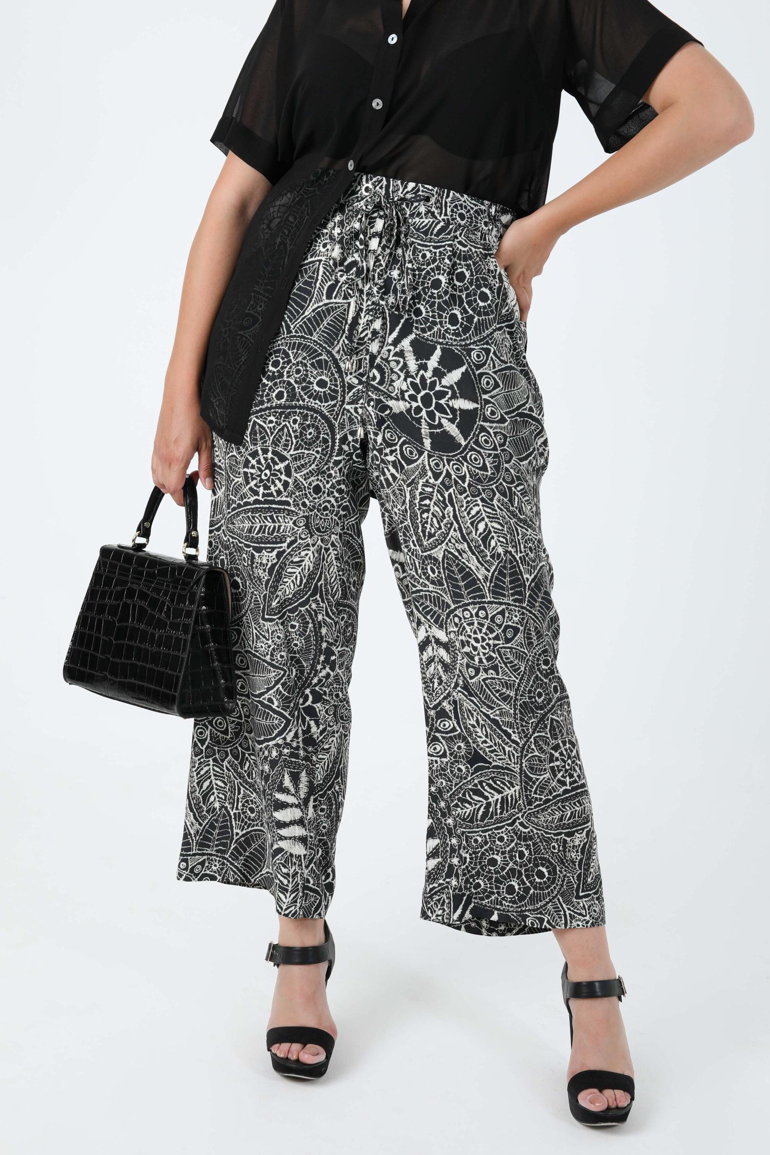 Fluid pants printed in eoko-tex fabric