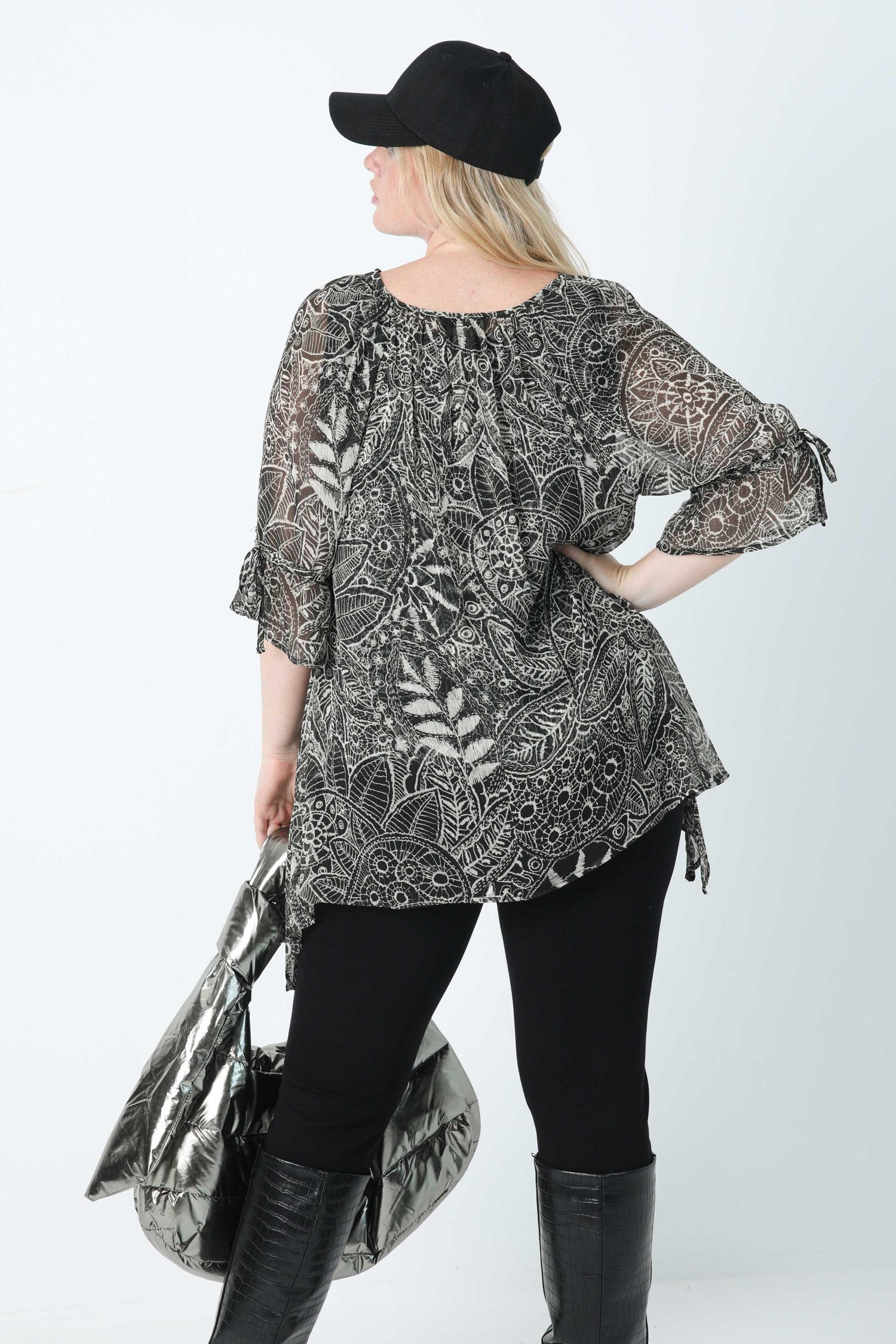 Printed blouse in eoko-tex fabric