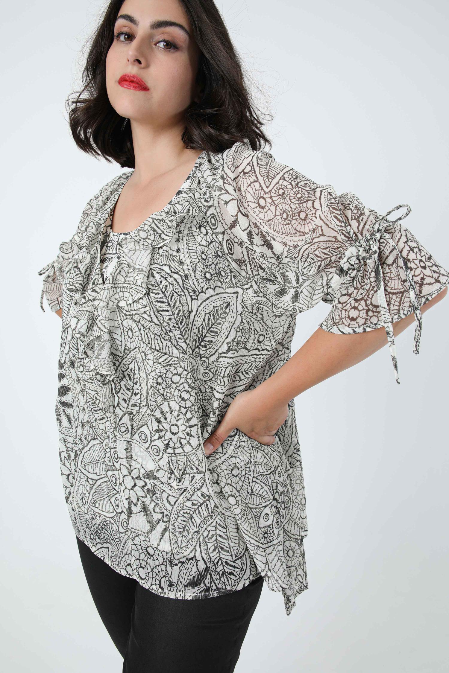 Printed blouse in eoko-tex fabric (August 20/25)