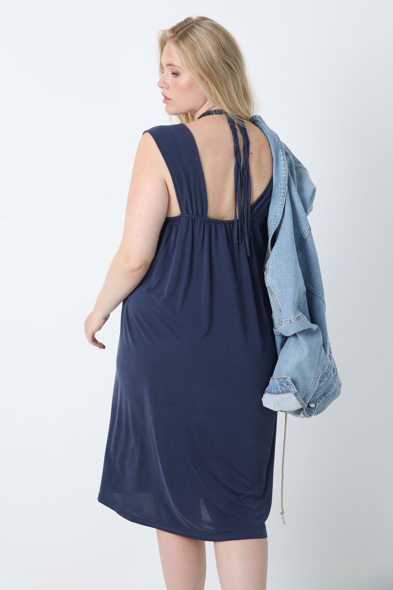 Sleeveless mid-length modal dress