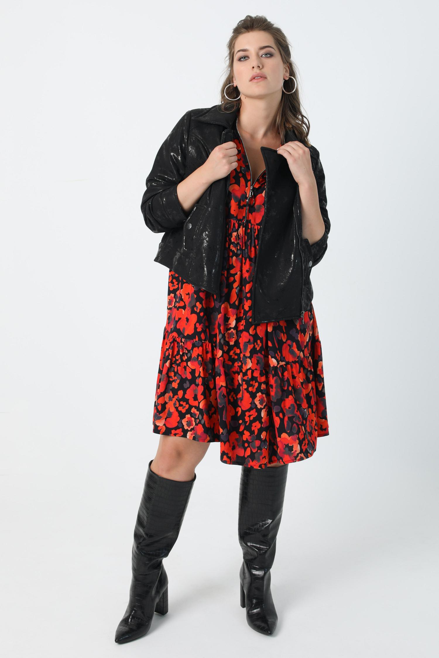 Short biker style jacket (shipping August 15/20)