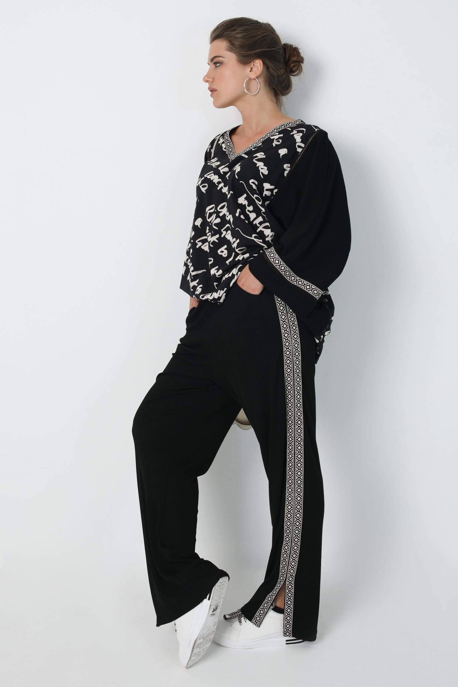 T-shaped tshirt with bi-material mesh and oeko-tex print