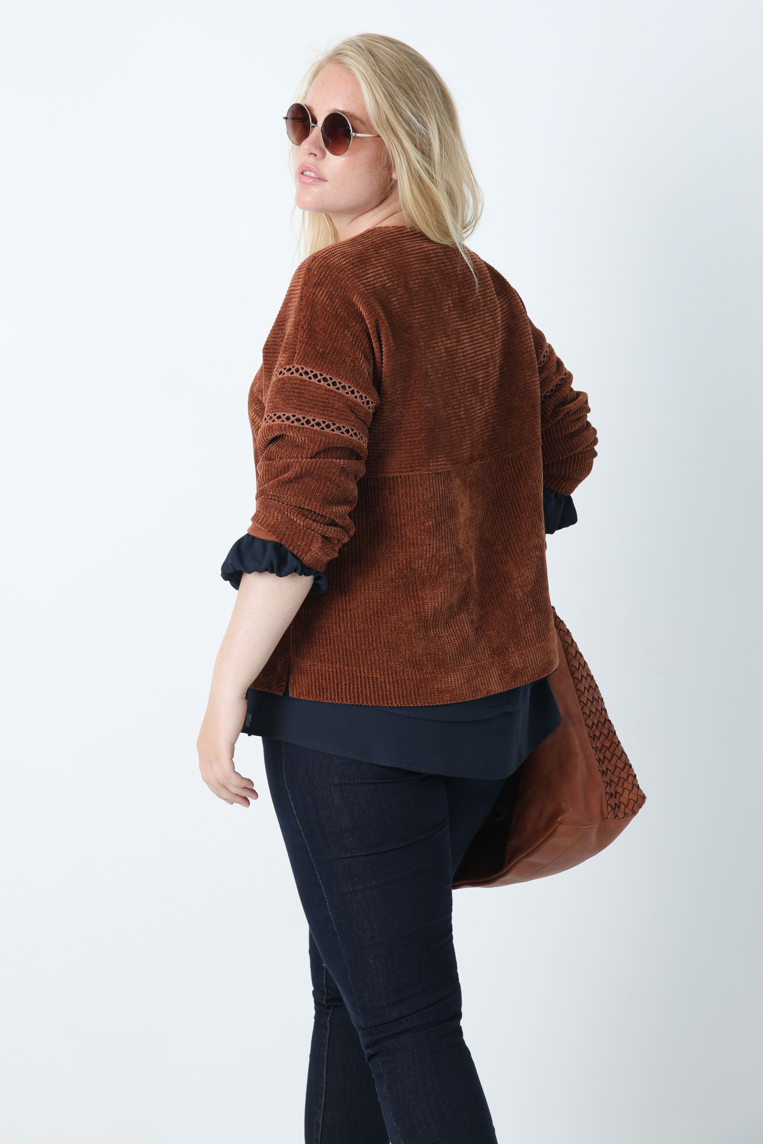 Chenille knit sweater
