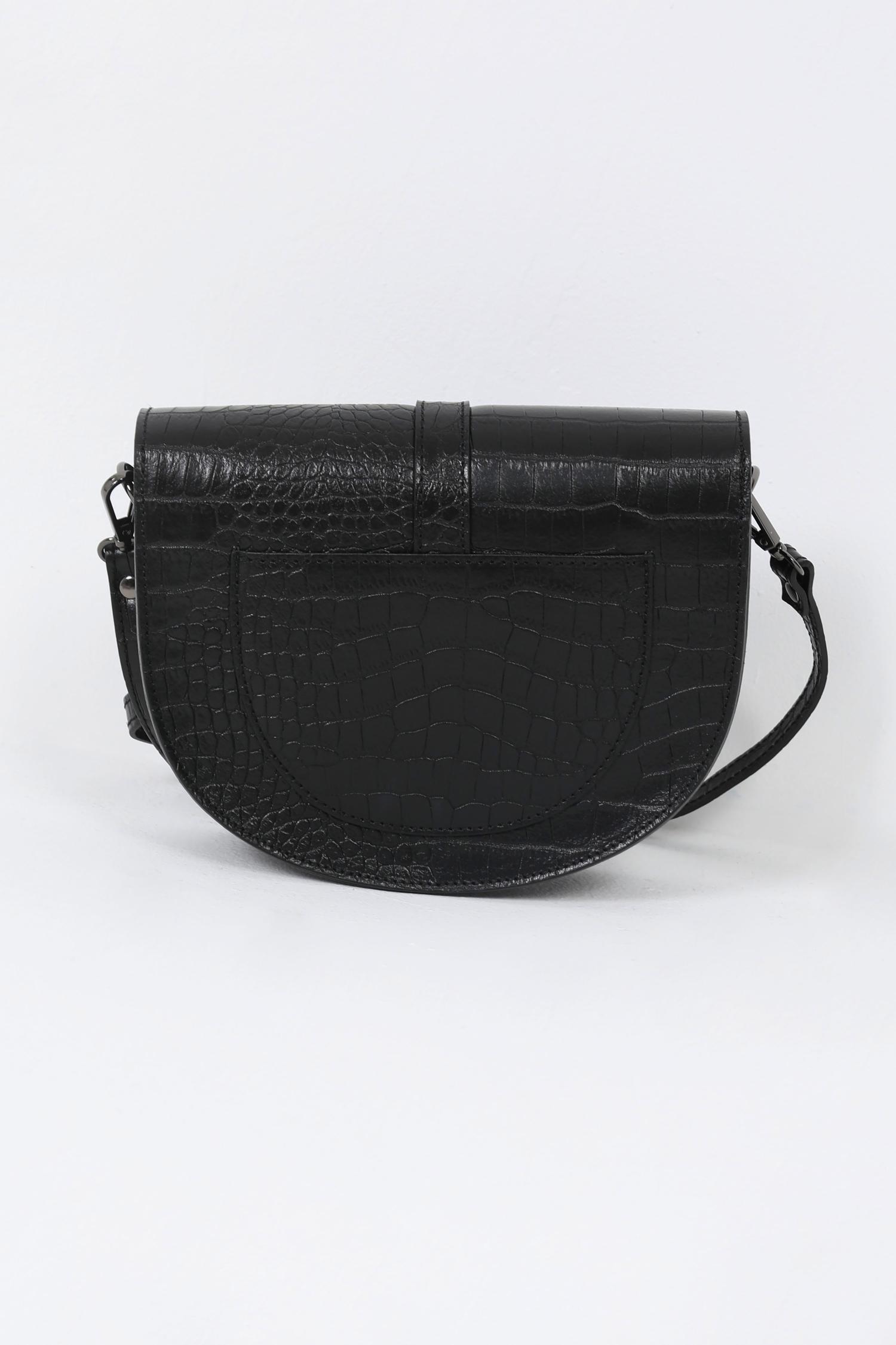 Half moon leather bag
