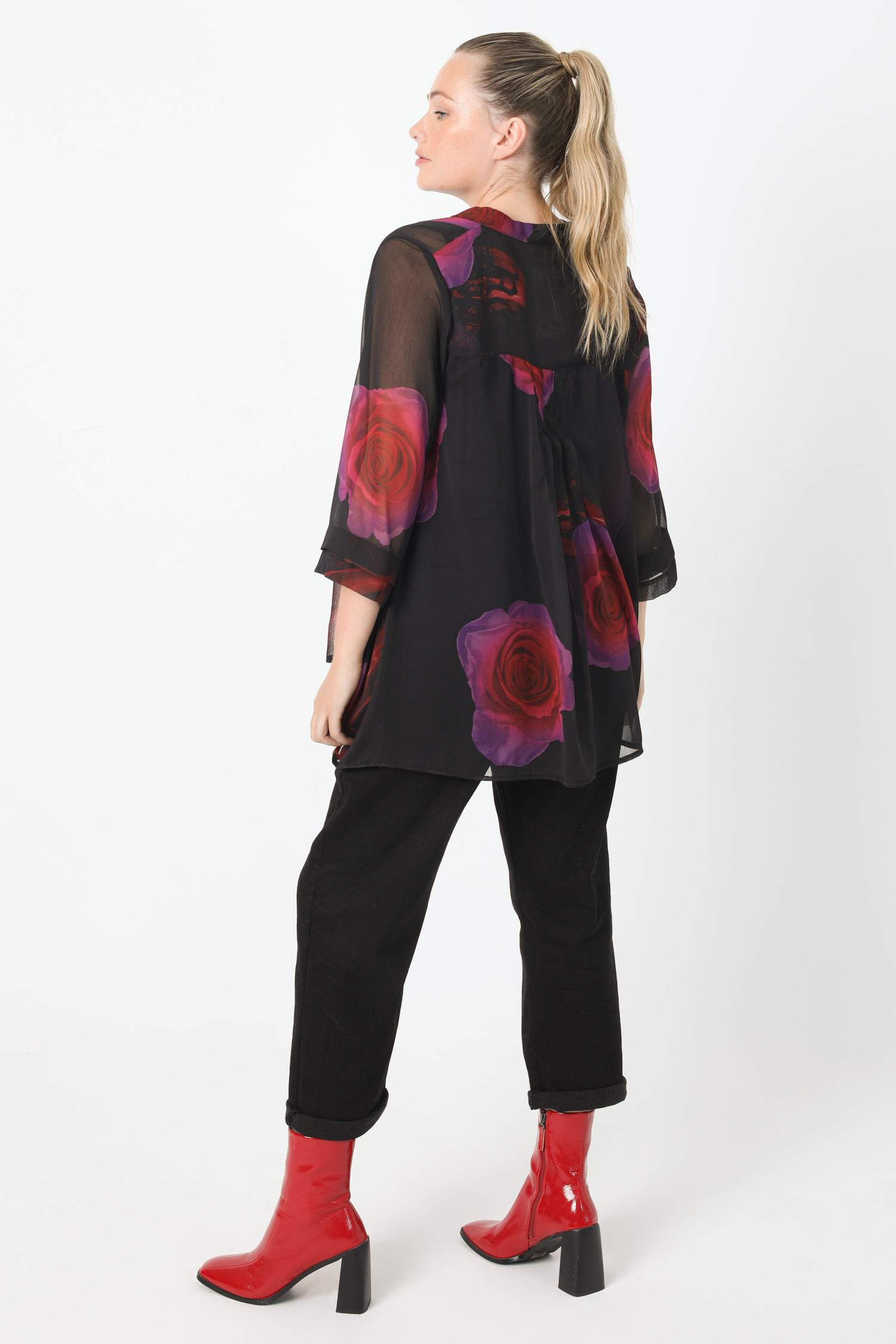 Oeko-tex printed veil shirt