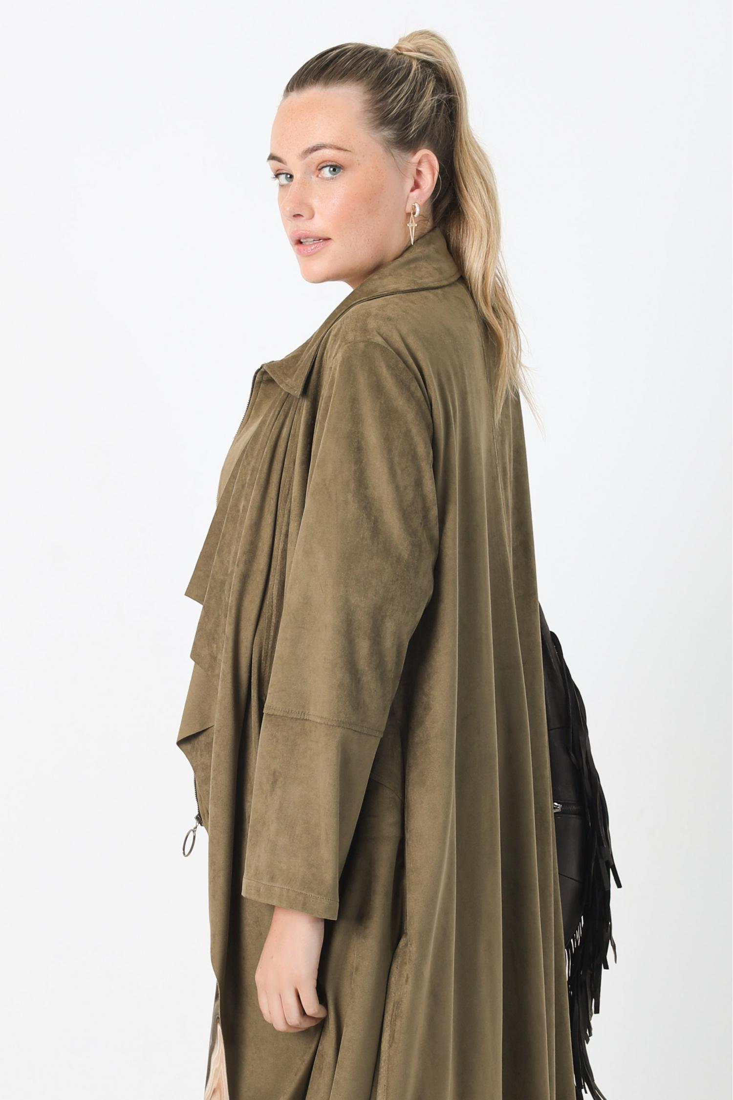 Double-sided long jacket
