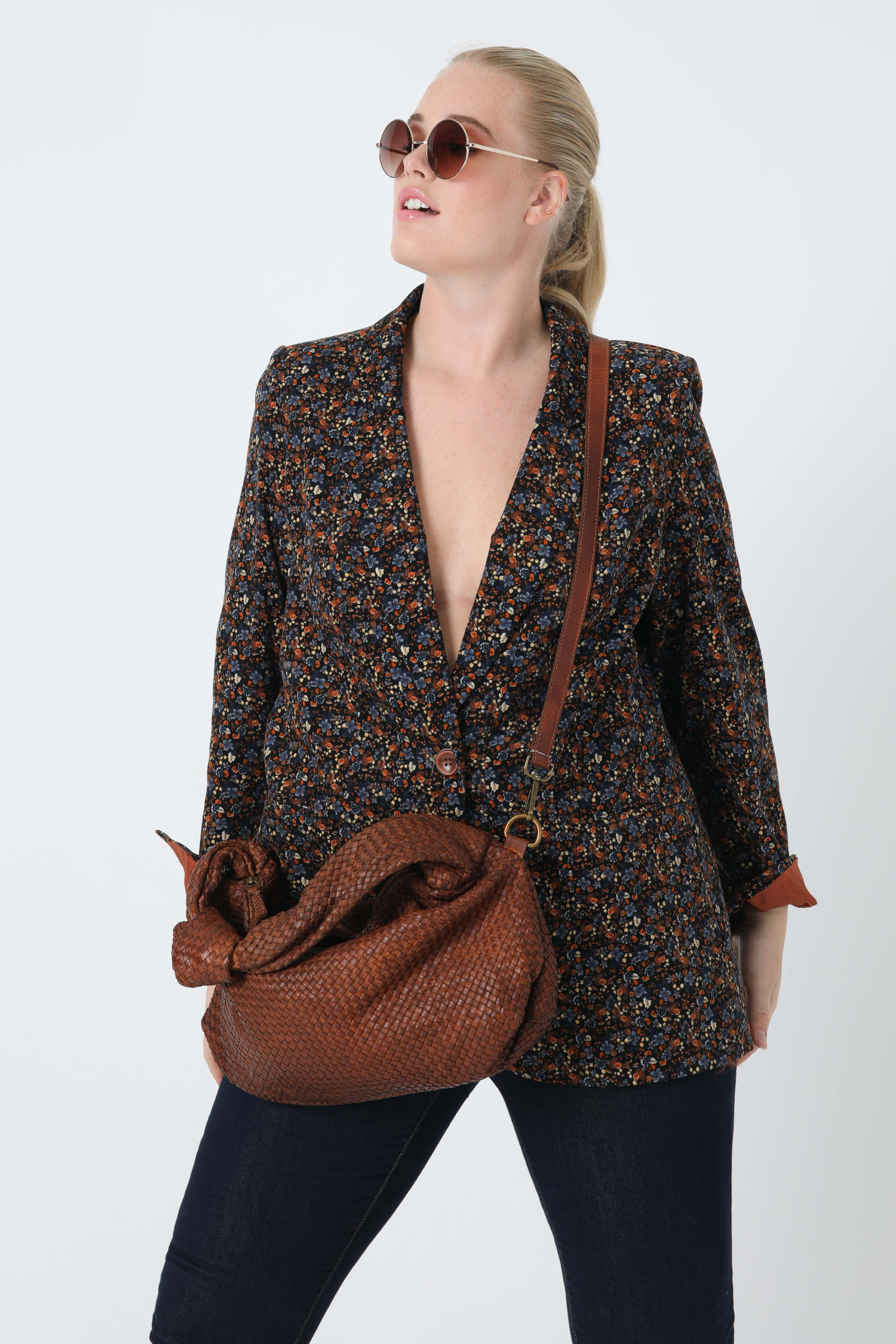 Printed corduroy tailored jacket (Shipping October 5/10)