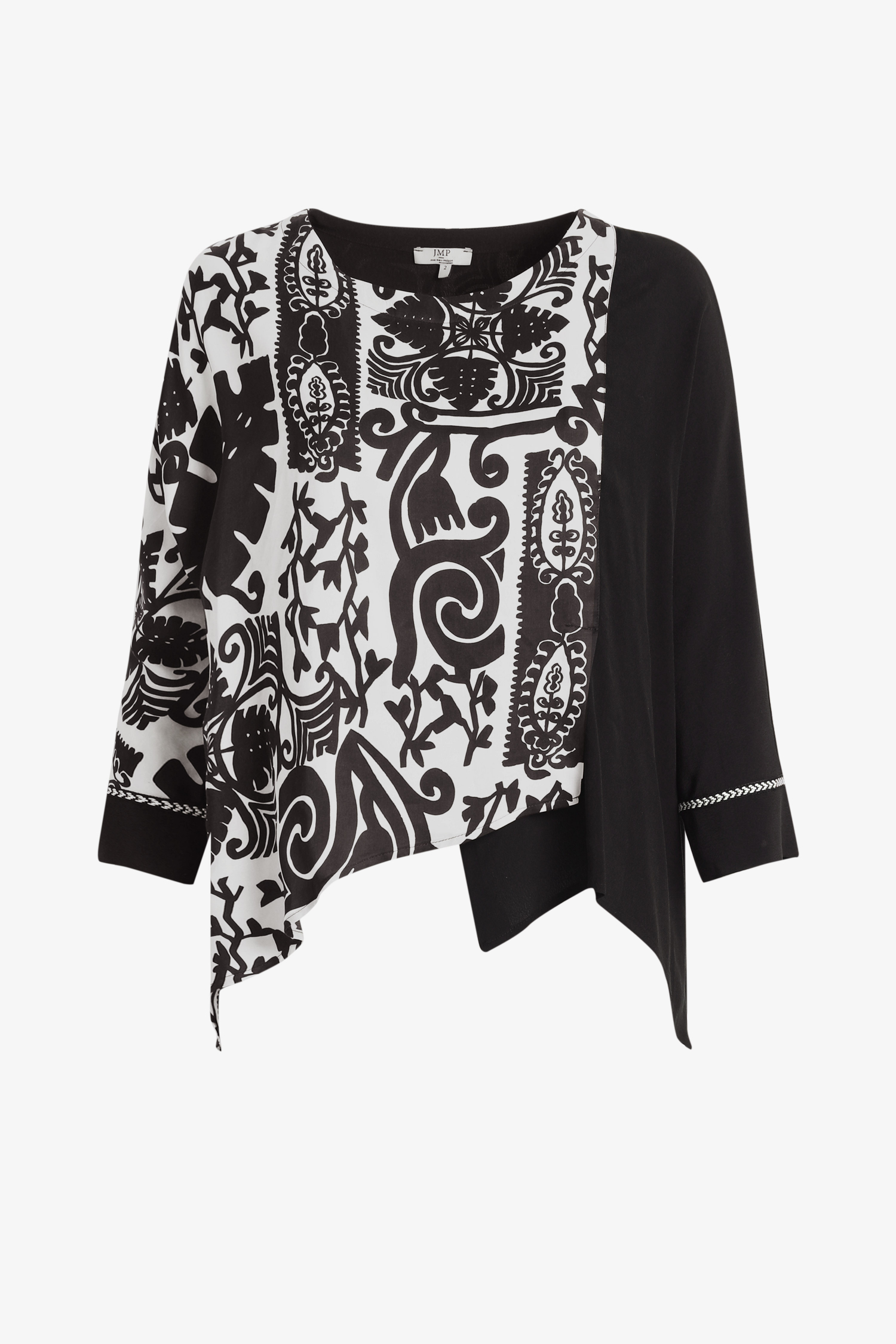 Oversized bi-color tunic (shipping October 10/15)