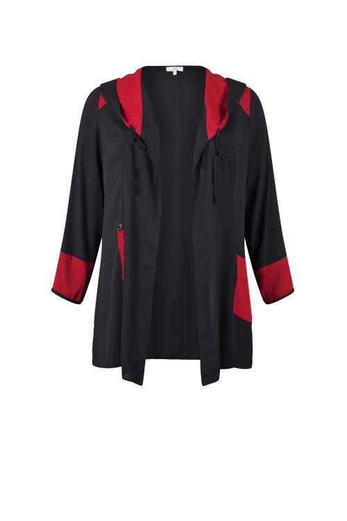 Gilet à capuche Noir/Rouge