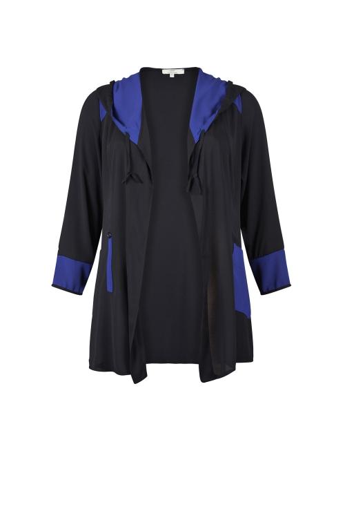 Gilet à capuche Noir/Bleu