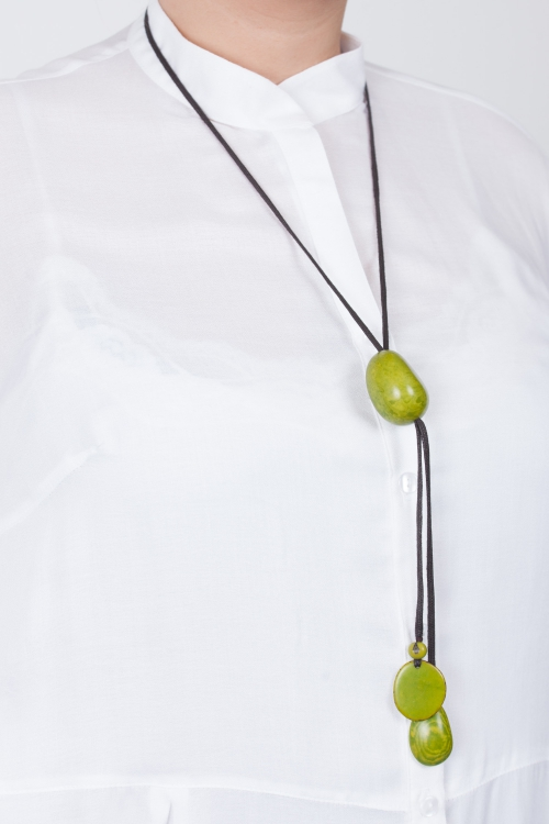 Collier 100% vegetale-Vert anis