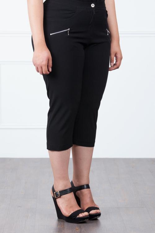 Pantalon court avec poche-Noir