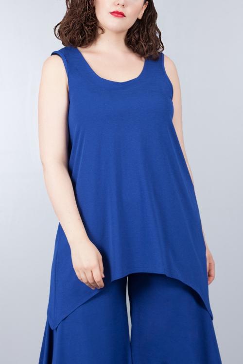 Débardeur asymétrique - Bleu royal